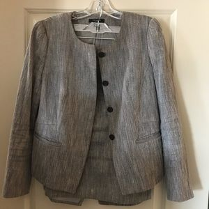 Grey and Black Ann Taylor Suit Size 8